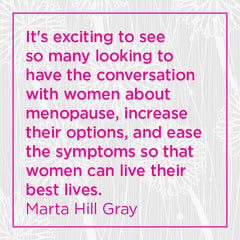 Callout: It's exciting to see... ease the symptoms so women can live their best lives.