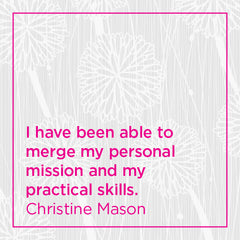 Callout: I have been able to merge my personal mission and my practical skills.