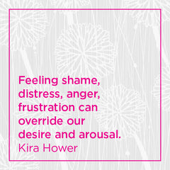 Callout: Feeling shame, distress, anger, frustration can override our desire and arousal.