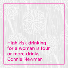 Callout: High-risk drinking for a woman is four or more drinks.