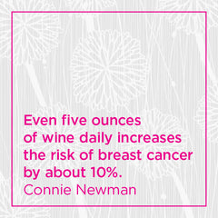 Callout: Even five ounces of wine daily increases the risk of breast cancer by about 10%.