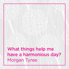 What things help me have a harmonious day?