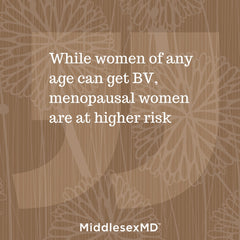 Callout: While womenof any age can get BV, menopausal women are at higher risk.