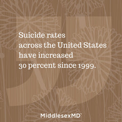 Pull quote: Suicide rates across the US have increased 30 percent since 1999.