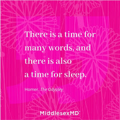 Quote: There is a time for many words, and there is a time for sleep. [Homer]