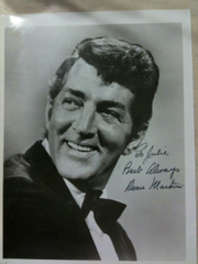 Autographed photo of Dean Martin