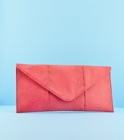 Coral Desert Night Clutch