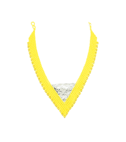 Maju Curated Bold  |  Yellow Bib Necklace