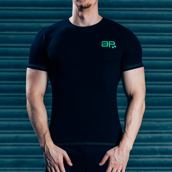 FormFit T-Shirt - Black & Bright Green