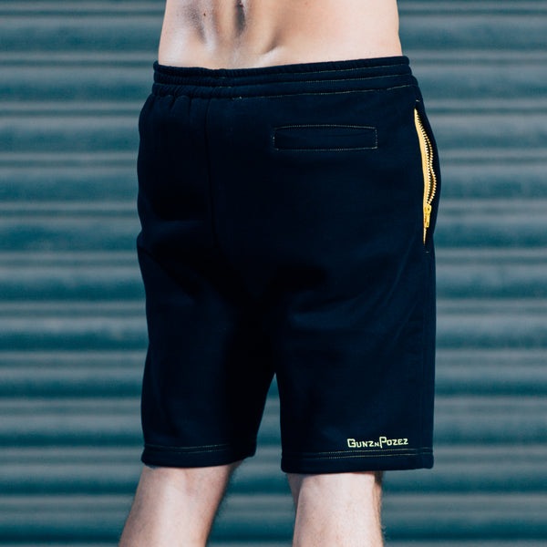 CozyFit Shorts - Black & Yellow