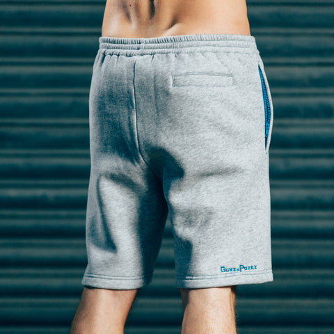 CozyFit Shorts - Grey & Blue