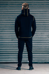 CozyFit Tracksuit - Black & Yellow