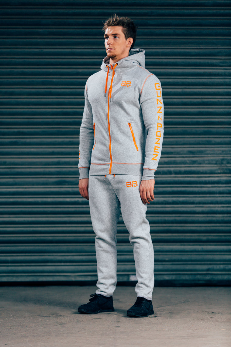 CozyFit Tracksuit - Grey & Orange