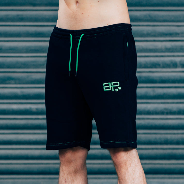 CozyFit Shorts - Black & Green