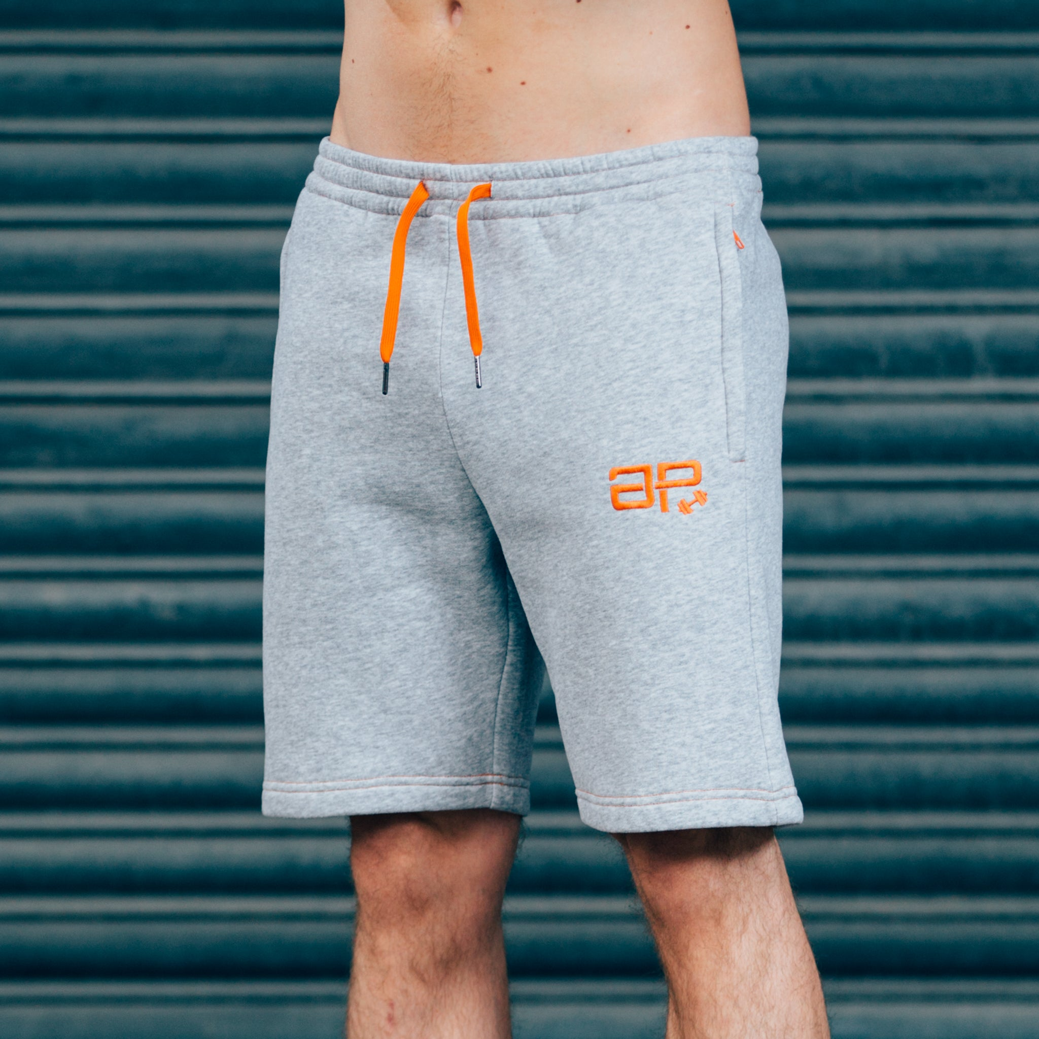 CozyFit Shorts - Grey & Orange