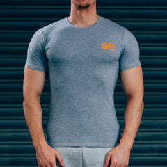 FormFit T-Shirt - Grey & Orange