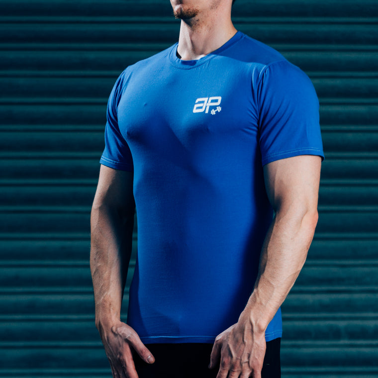 FormFit T-Shirt - Blue & White