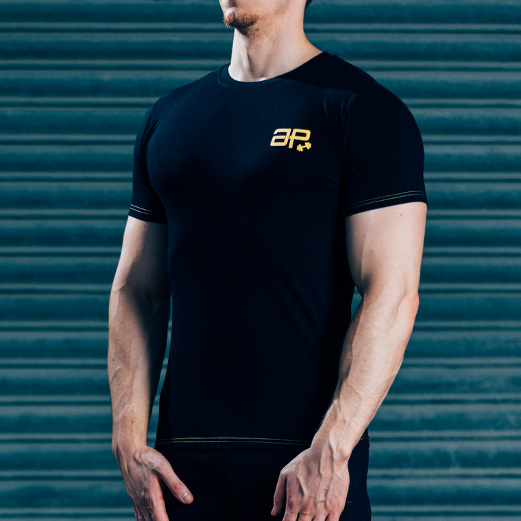 FormFit T-Shirt - Black & Yellow