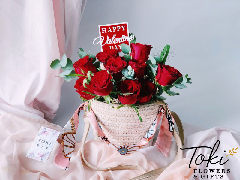 Valentine's Bag of Roses - All Reds