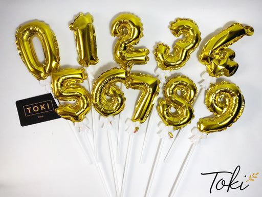 (Add-On):  Mini Foil Numeric Balloon Topper