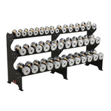 Custom Solid Steel Dumbbells with Rack