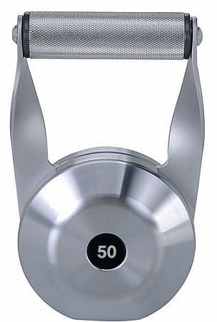 Front view of Solid Steel Kettlebell - 50 lbs.