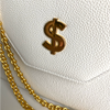 Currency Flap Bag in Classic White Calf Leather