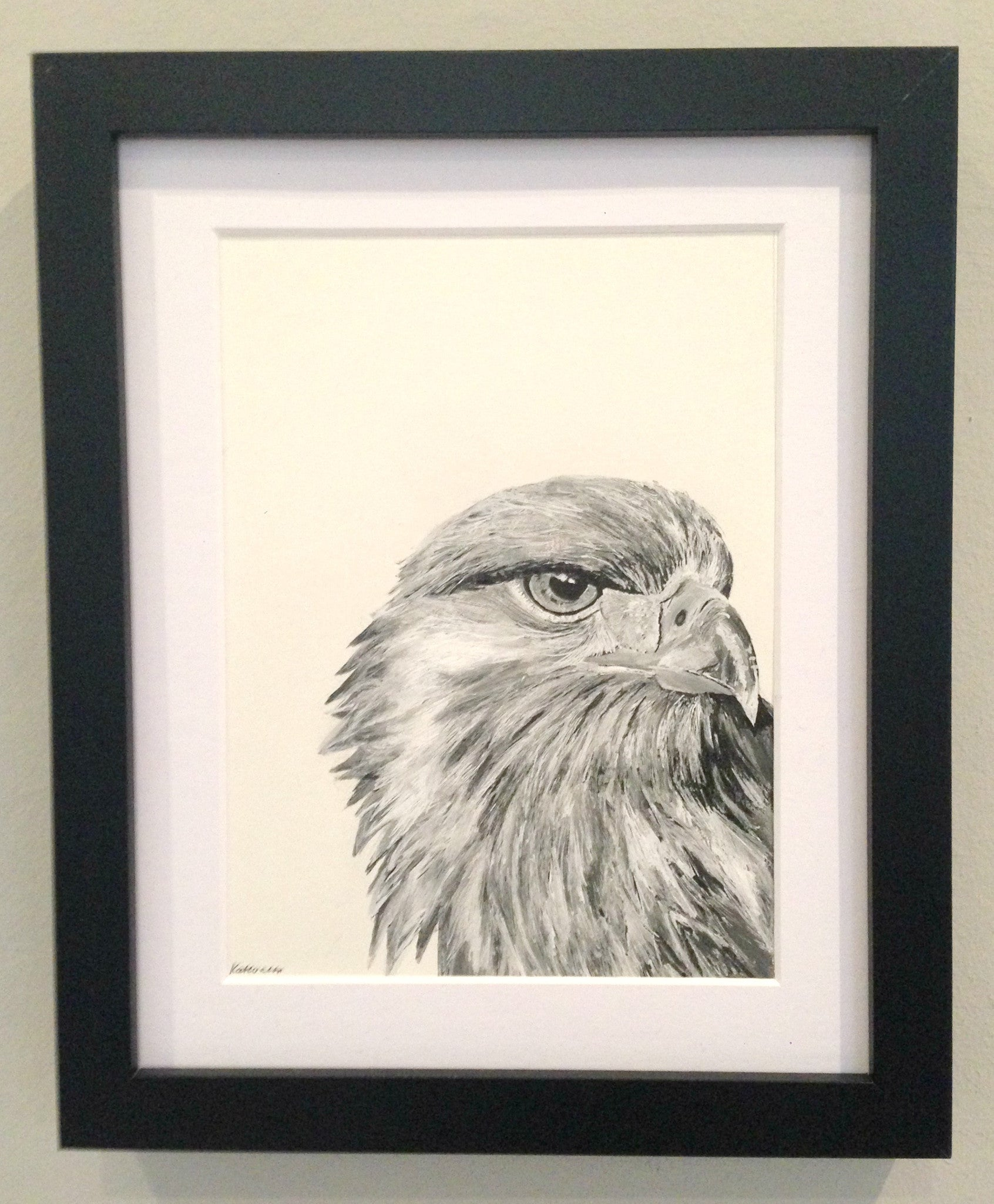 Golden Eagle Ink Portrait