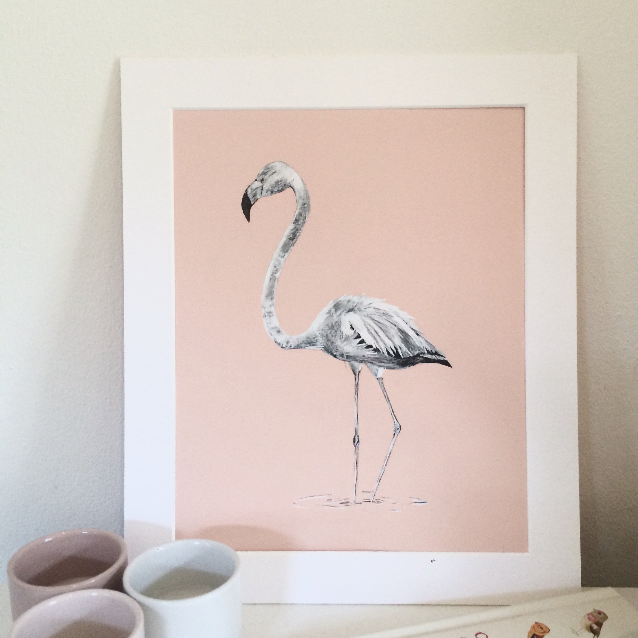 Flamingo, Original Pen & Ink