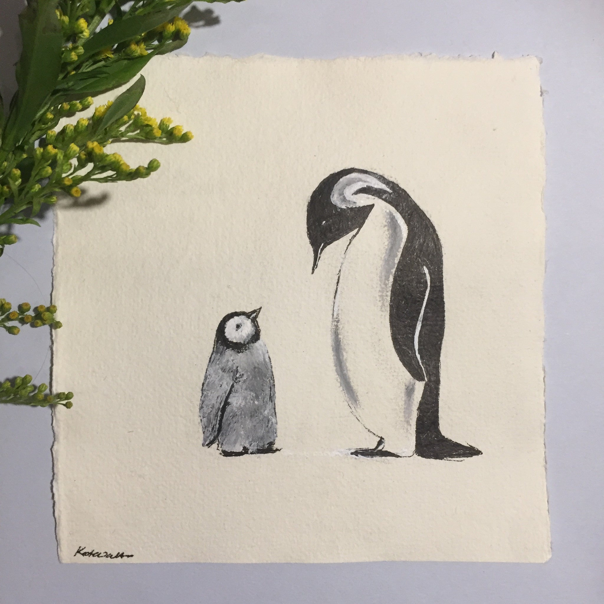Motherly Love, Penguin Drawing