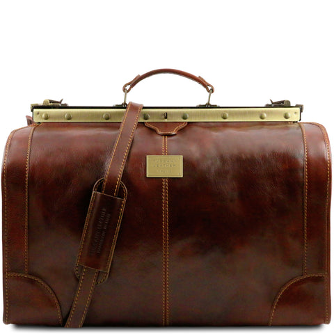 MADRID TL1022 Gladstone Leather Bag - Large size