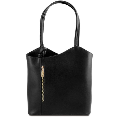 PATTY Safiano Leather Convertible Bag