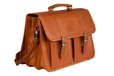 JUST JIM Leather briefcase