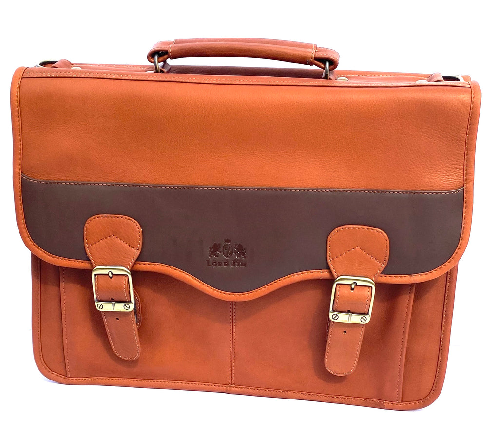 LORD JIM Leather Briefcase