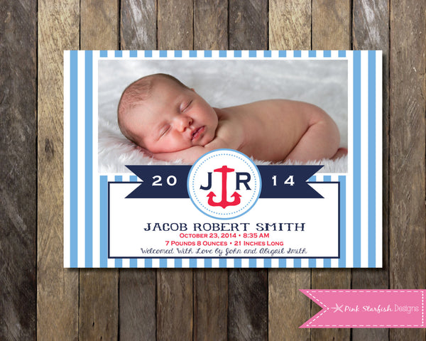 Printable baby boy birth announcement birth announcement wall art – Announcement of Birth of Baby Girl