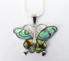 Abalone Butterfly Pendant and Earrings Set - Cute Creatures Animal Jewellery