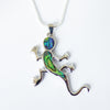 Abalone Gecko Pendant and Earrings Set - Cute Creatures Animal Jewellery