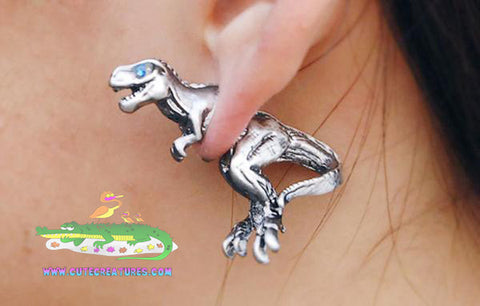 Tyrannosaurus Rex 3D Fun Earrings - Cute Creatures Animal Jewellery