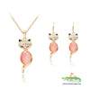 Cute Fox Pendant with Matching Earrings - Cute Creatures Animal Jewellery