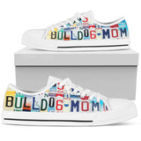 Bulldog Mom - Women Low Top Canvas Shoe