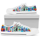 Autism Mom - Women Low Top Canvas Shoe