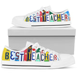 Best Teacher - Women Low Top Canvas Shoe