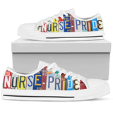Nurse Pride Women Low Top Canvas Shoes
