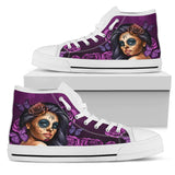 Calavera Girl High Top Canvas Shoe - Express Shipping