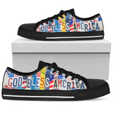 God Bless America Women Low Top Shoes