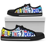 Golfing Mom Women Low Top Canvas Shoe