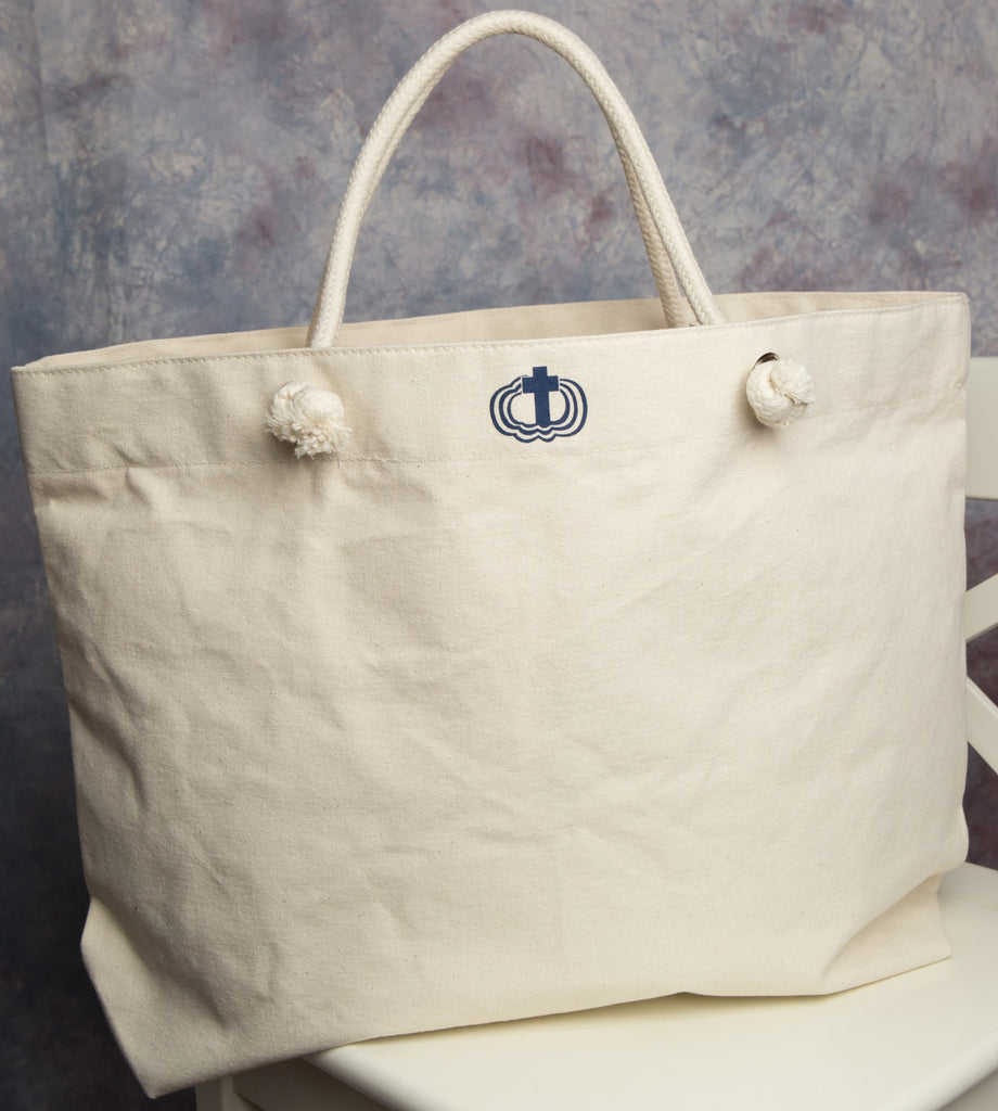 Cortona Tote - part of a Catholic apparel line