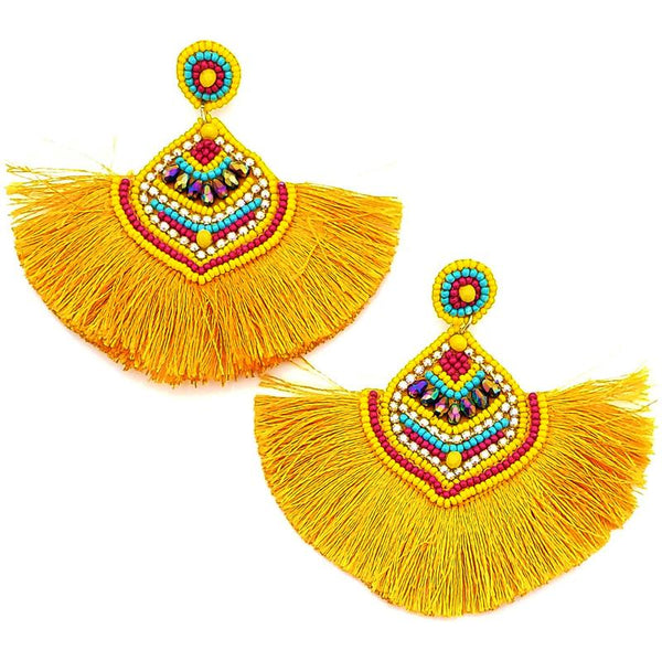 Havana Earring- Yellow