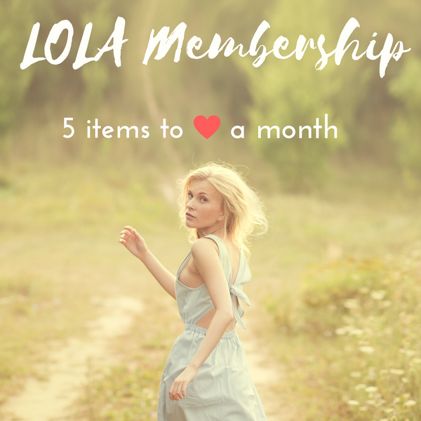 LOLA Membership - 5 Items/Month.