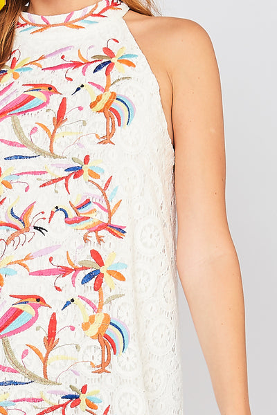 Mazatlan Embroidered Dress